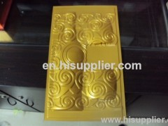 disposable ps flocking blister wine tray packing
