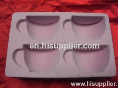PS flocking tray for grape wine PS flocking tray for bottle and cups