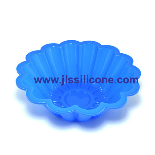 silicone flower pizza and cake bakeware moulds