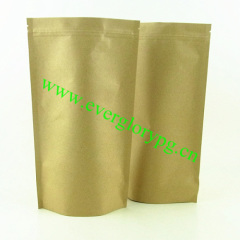 FDA foil ziplock stand up kraft paper bag