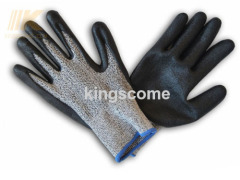 Foam Nitrile Coated Strong Cut Fiber Gloves KWG1009