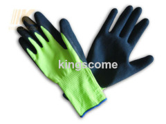 Sandy Latex Coated Hi-Vis Nylon Gloves