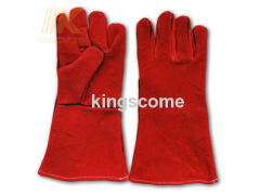 Red Cow Split Welding Gloves
