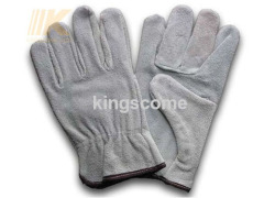 Cow split leather driver gloves