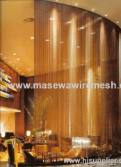 carbon steel wire mesh curtain