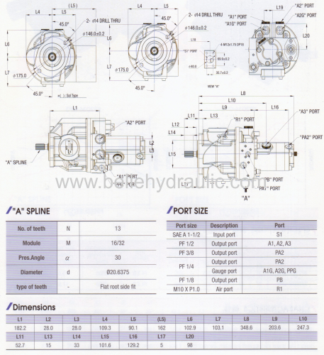 Piston Type Main pump AP2D28 for excavator