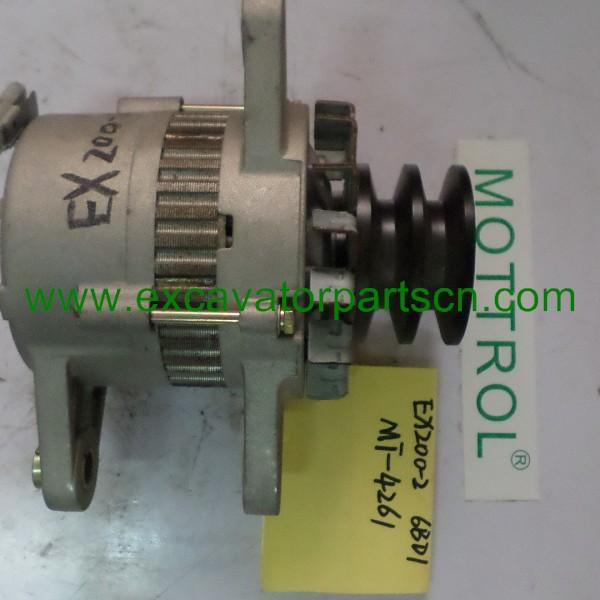 Alternator for HITACHI EX200-2 6BD1 1-81200-440-2 0-33000-6552