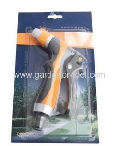 Zinc 2-way Garden Water Hose Nozzle With Soft Double Color Grip