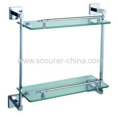 Bathroom Double Glass Shelf