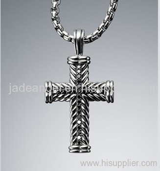 China david yurman mens jewelry manufacturer supplier jade designer inspired jewelry sterling silver yurman black diamond chevron cross necklace mozeypictures Images