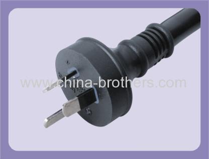 Australian standard 3 wire plugin power cord