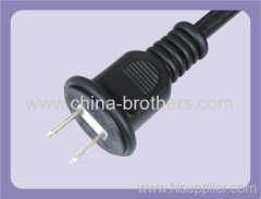 Japan PSE Standard 2 flat Pins Plug Power Cord