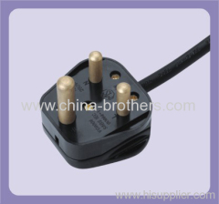 The assemblyed south africa 3 pin plug power cord