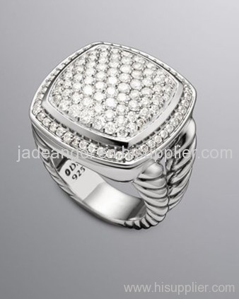 designer inspired jewelry sterling silver 17mm pave diamond albion