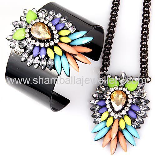 Yiwu products wholesale shourouk Necklace bracelets jewelrySet