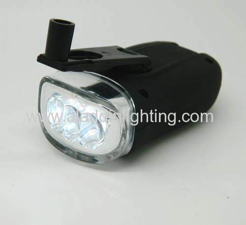 3 LED hand cranking Solar flashlight