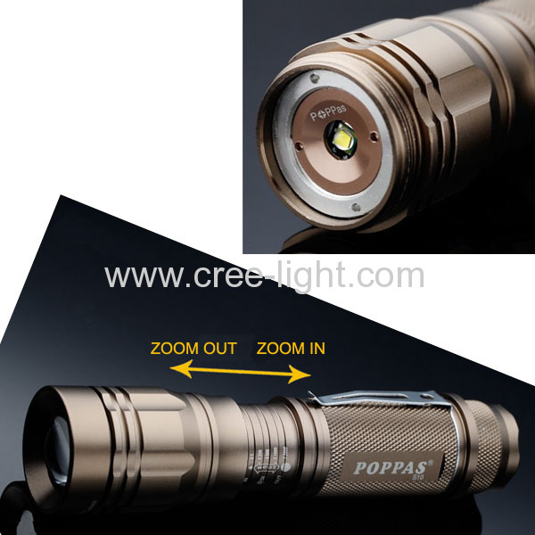 500 lumens Rechargeable 10W CREE XML T6 High Power Aluminum Torch ACK-1138