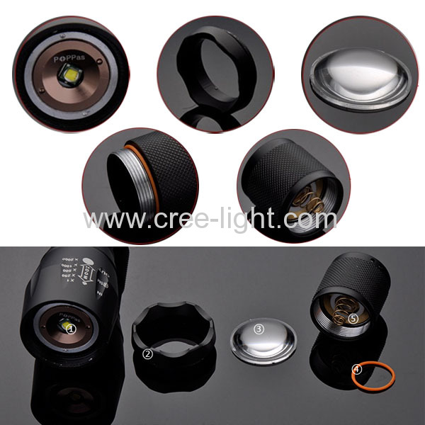 Idea From Stormeye CREE XML-T6 Focus Adjustable High Power Torch ACK-1128