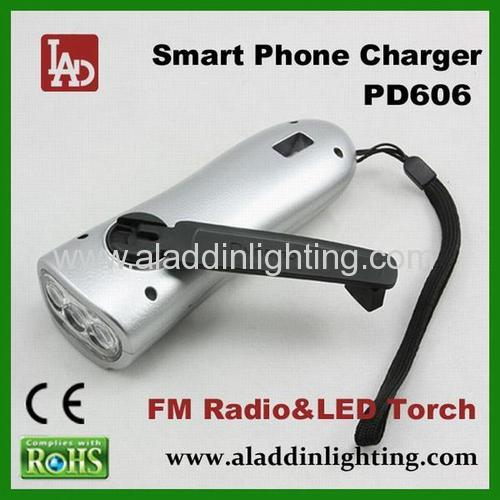 earthquake emergency FM radio LED Flashlight