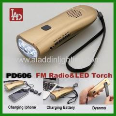 earthquake emergency FM radio LED Flashlight