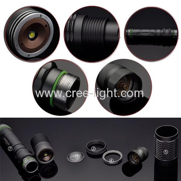 2 x 18650 10W CREE XML-T6 Bulb Telescopic High Power Aluminum Hunting Torch AC1122