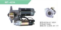 EXCAVATOR HD700-5/7 6D31 STARTING MOTOR