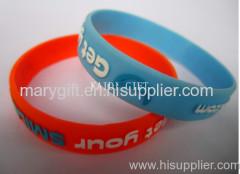 logo embossed silicone wristband