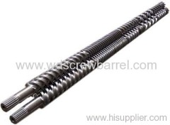 twin parallel screw barrel for pvc production