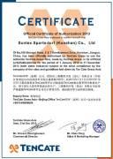 TenCate fibre Certificate