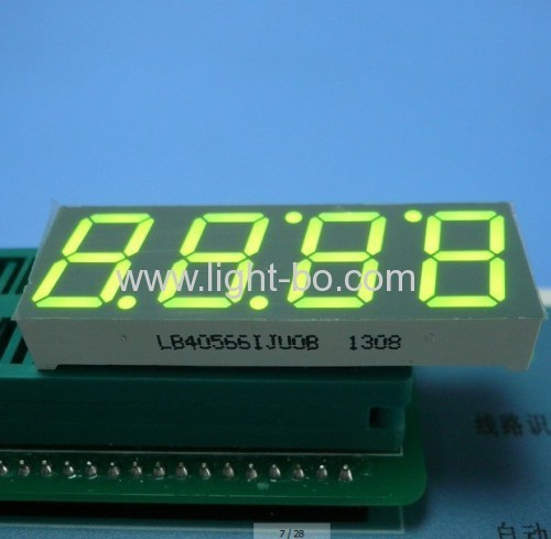 4 digit 14.2mm (0.56 inch) Super Bright Yellow Common Anode 7 Segment LED Display for microwave oven control