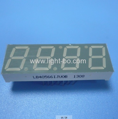 4 digit 14.2mm (0.56 inch) Super Bright Green Common Anode 7 Segment LED Display for microwave oven control