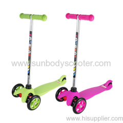 three wheels kids micro scooter with two front wheels