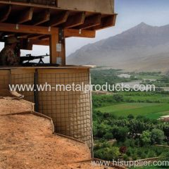 defensive firing position use wire mesh barrier