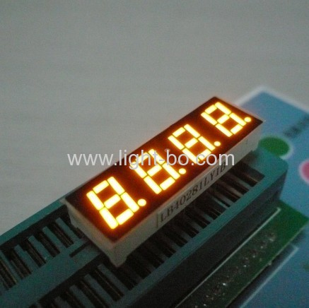 Pure green 0.28  4 digit 7 segment led display common anode for temperature humidity control