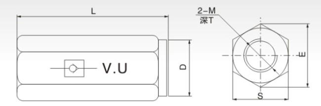 female thread bsp1/4 inch high pressure hydraulic operated check valve steel non-return valve