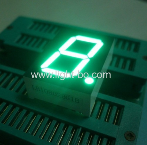 Ultra white 0.8 Common aonde single digit 7 segment led display for instrument panel