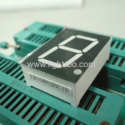 Single Digit Pure Green common anode 0.87-segment LED Display