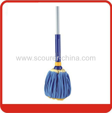 Extensible PVA Twist mop with telescopic steel handle