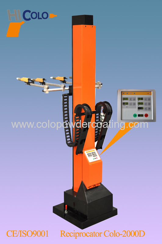 overhead conveyor for powder coating line
