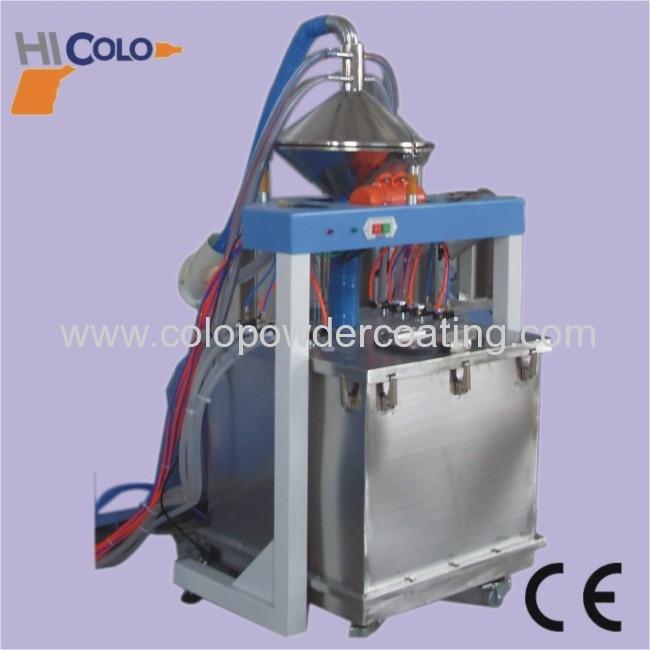 overhead conveyor for powder coating line