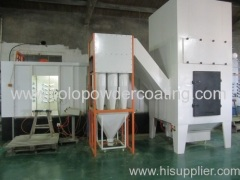 Automatic powder painting booth