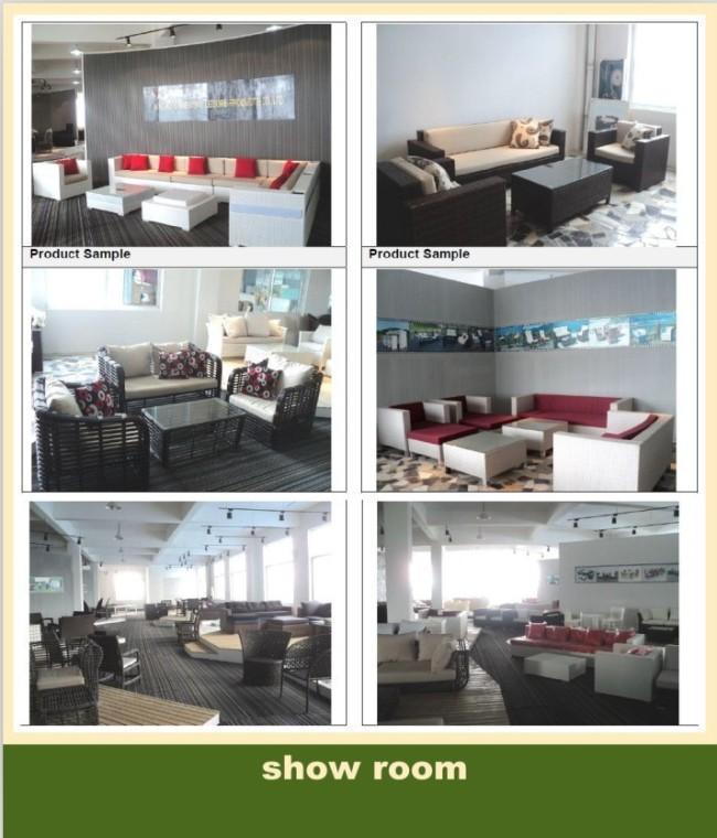 Patio center rattan sofa lounge