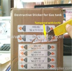 Sticky Destructive Label with Strong Adhesive