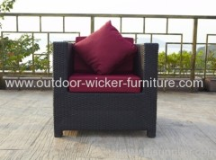 Single rattan sofa garden chair