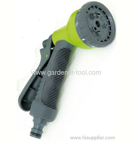 10M Garden Water Coil Hose With 8-Pattern Spray Nozzle