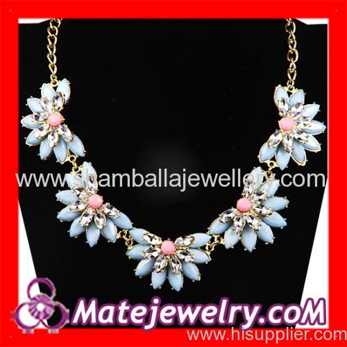 Flower Choker Bib Necklace