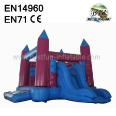 Inflatable Pink Castle Slide