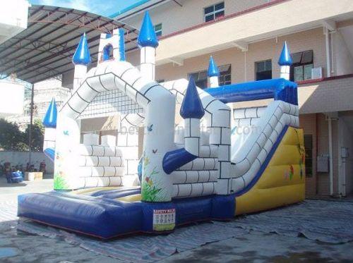 Backyard Inflatable Castle And Slide