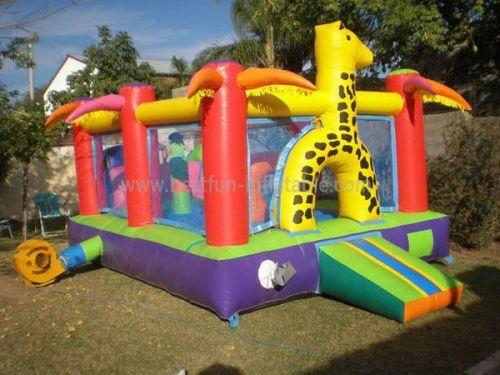 Giraffe Inflatable Indoor Bouncer