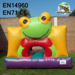 Blowup Frog Bounce House Mini Size